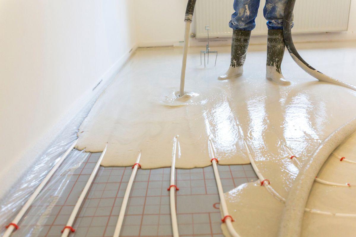 Lité anhydritové podlahy - DK Beton