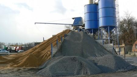 Provoz a autopark prvotní betonárny